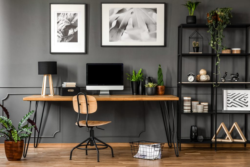A home office that has been spring cleaned. Inspiration to spring clean your professional life.